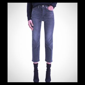 Levi's Wedgie Straight Jeans in Black Cyprus